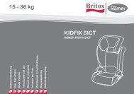 KIDFIX SICT 15 - 36 kg - Britax