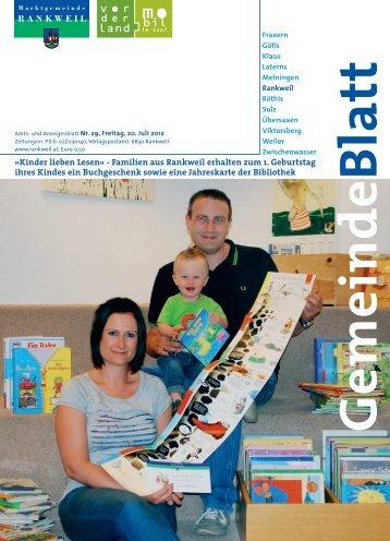 Kinder lieben Lesen« - Familien aus Rankweil ... - Gemeinde Klaus