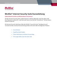 McAfee® Internet Security Suite Kurzanleitung