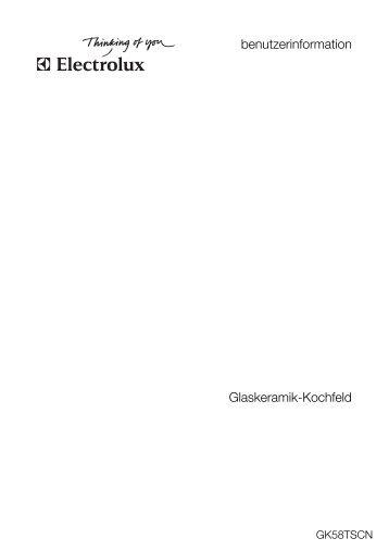 benutzerinformation Glaskeramik-Kochfeld - Elektroshop24