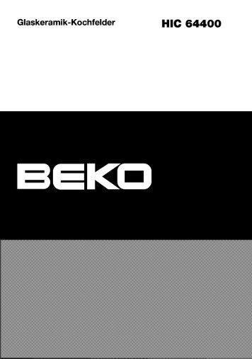 Bedienungsanleitung (PDF) - Beko