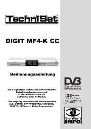 Anleitung Receiver TechniSatDIGIT MF4-K CC - Primacom