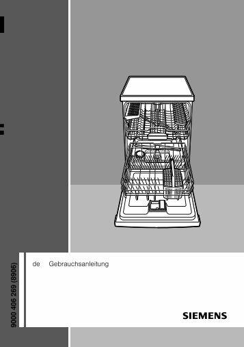 Gebrauchsanleitung Siemens Geschirrspüler - Elektroshop24