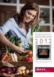 Endgebraucherprospekt 2012 - Neff