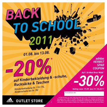 20%* auf Kinderbekleidung & -schuhe, Rucksäcke & Taschen
