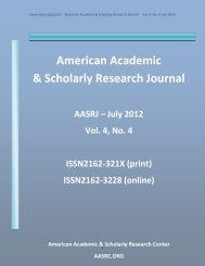 E - American Academic & Scholarly Research Center