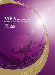 MBAProgrammes 2009 - Faculty of Business Administration - The ...
