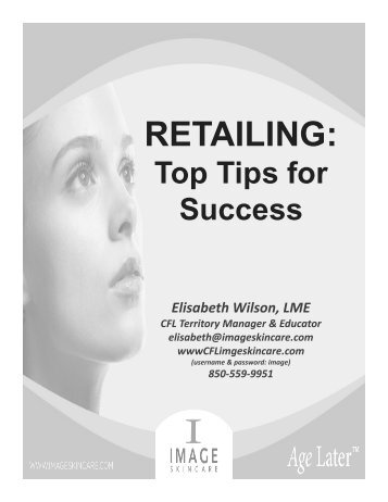 Top Tips For Success - CFL Image Skincare
