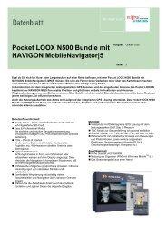 Pocket LOOX N500 Bundle mit NAVIGON MobileNavigator 5