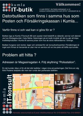 KumlaIT-Blad Framsida.indd - Kumla IT-konsult