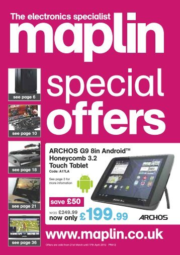 now only £59.99 save £30 - Maplin Electronics