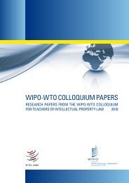 WIPO-WTO COLLOQUIUM PAPERS