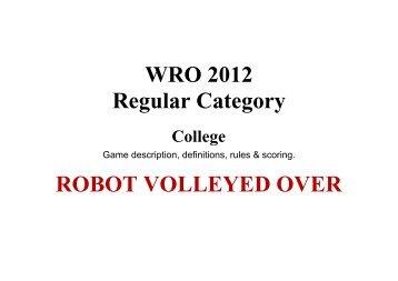WRO 2012 Regular Category College