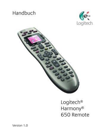 User Manual Handbuch Logitech® Harmony® 650 Remote