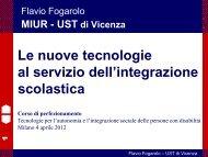Le nuove tecnologie al servizio dell'integrazione - Portale SIVA