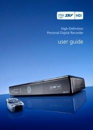 MY SKY HDi - User Guide - Sky TV