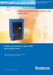 Caldera de fundición Logano G201 para carbón y leña Caldera de ...