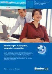 Wärme managen: leistungsstark, komfortabel, wirtschaftlich - Buderus