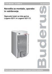 Navodila G211 - Buderus