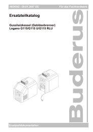 Inhaltsverzeichnis - Buderus