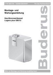 Montage- und Wartungsanleitung - Buderus
