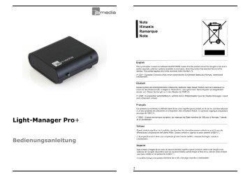 Light-Manager Pro+ Bedienungsanleitung