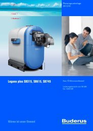 Logano plus SB315, SB615, SB745 - Buderus