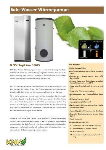 Sole-Wasser Wärmepumpe - KNV umweltgerechte Energietechnik ...