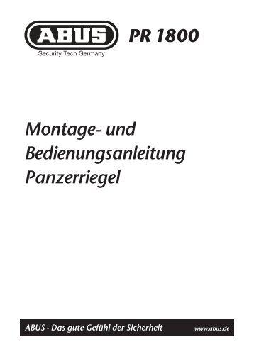 Montage- und Bedienungsanleitung Panzerriegel PR ... - J-Kessel.de