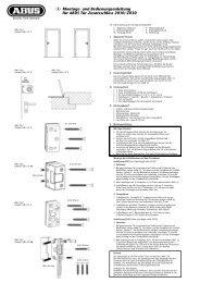 und Bedienungsanleitung für ABUS Tür-Zusatzschloss 2010/2030