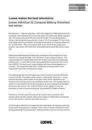 Loewe makes the best televisions Loewe Individual 32 ... - Loewe AG