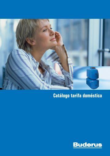Catálogo tarifa doméstica - Buderus