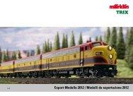 Export-Modelle 2012 / Modelli da esportazione 2012