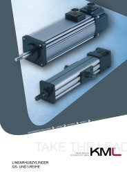 LinearhubzyLinder GS- und i-reihe - KML Linear Motion