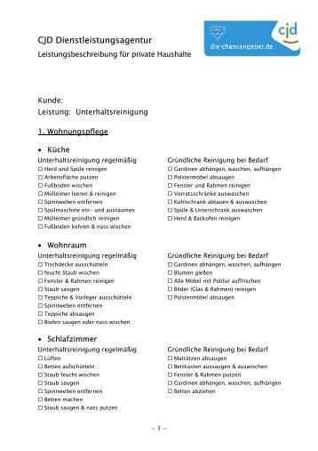 Leistungsbeschreibung für private Haushalte - CJD ...
