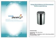 Design Badmülleimer mit Infrarotsensor ... - Trendy Planets