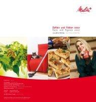 Zahlen und Fakten 2007 Facts and Figures 2007 - Melitta Corporate ...