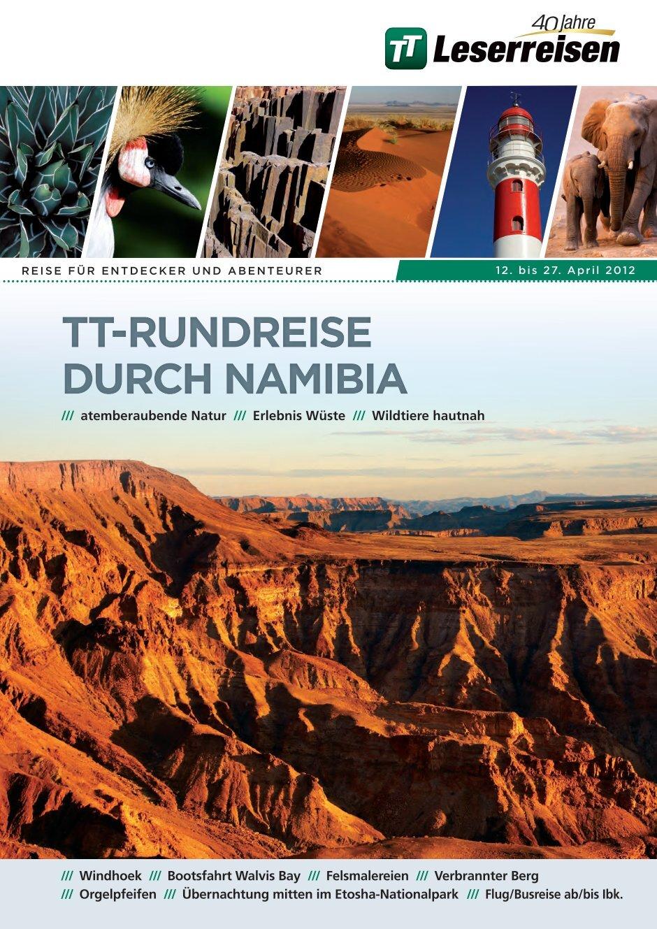 tui namibia rundreise