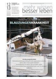 7 besser leben 12/2009 - Schöpfungsverantwortung Tier und Mensch