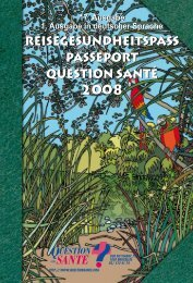 PassePort Question santé 2008 2008 2008 - Reisegesundheitspass