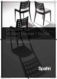 preisliste für stühle | hocker | tische bänke - spahn-koeln.de