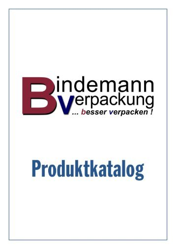 PDF Katalog - Bindemann Verpackung