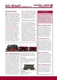 Info Aktuell Ausgabe Nr. 28 Verehrter Kunde ... - Champex-Linden