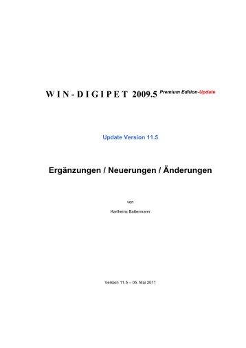 WIN - DIGIPET 2009.5 Premium Edition-Update - Modellplan