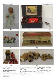 Spielzeug und Puppen Samstag, 21. 04. 2012