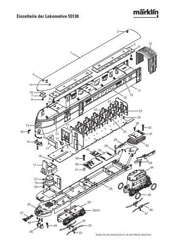 Einzelteile der Lokomotive 55138 - Spur-1-Freunde-Berlin