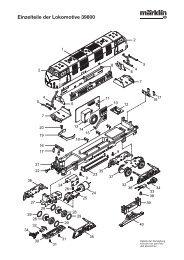 Einzelteile der Lokomotive 39800