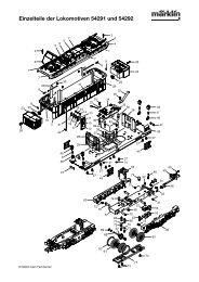 Einzelteile der Lokomotiven 54291 und 54292