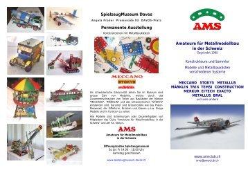 Folder AMS - Amateure für Metallmodellbau in der Schweiz