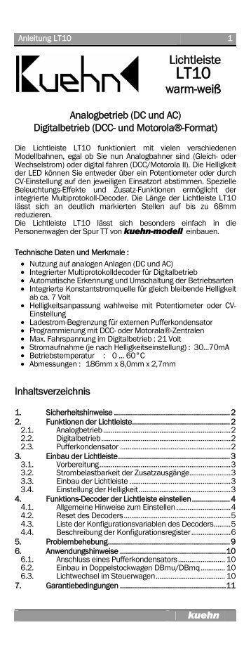 Lichtleiste LT10 - Kuehn